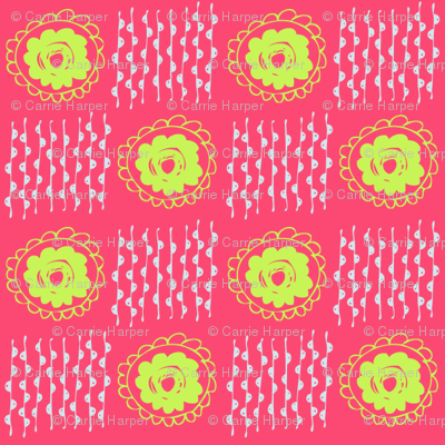 hot pink and acid green doodles