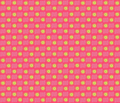 hot pink and acid green doodles fabric by carrie_harper on Spoonflower - custom fabric