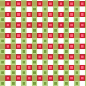 Christmas Gingham Green Large