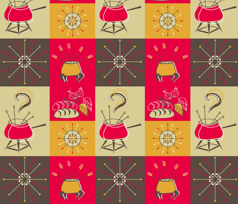 Fantastic Retro Fondue fabric by holly_helgeson on Spoonflower - custom fabric