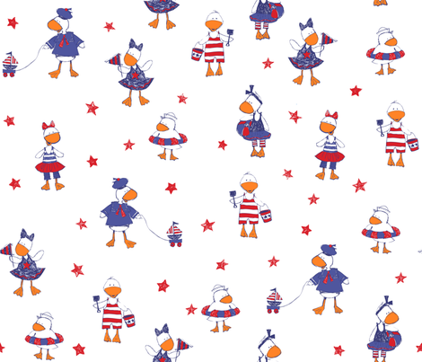 Ducky Good Time 2 fabric by bzbdesigner on Spoonflower - custom fabric