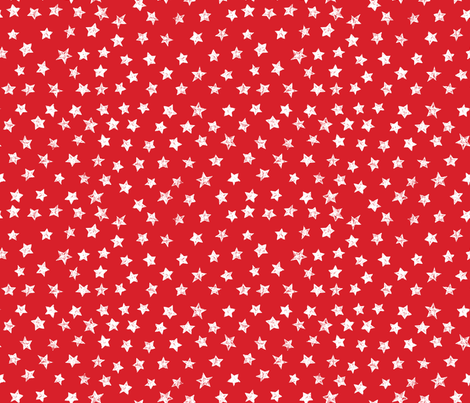 Ducky Red Stars fabric by bzbdesigner on Spoonflower - custom fabric
