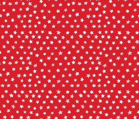 Ducky Red Stars fabric by bzbdesigner on Spoonflower - custom fabric