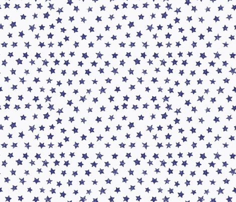 Ducky Blue Stars fabric by bzbdesigner on Spoonflower - custom fabric