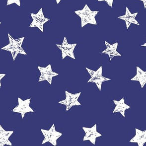 Ducky White Stars over Blue