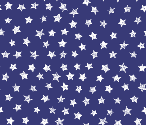 Ducky White Stars over Blue fabric by bzbdesigner on Spoonflower - custom fabric
