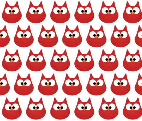 HOOTS in red fabric by scorpiusblue on Spoonflower - custom fabric
