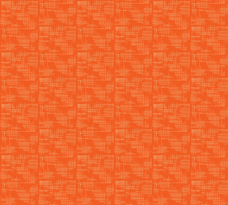 grassmat-esque in blood orange fabric by sophista-tiki on Spoonflower - custom fabric