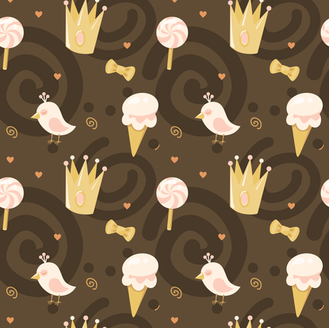 choco-01 fabric by katja_saburova on Spoonflower - custom fabric