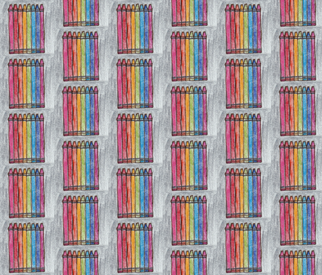Crayons fabric by courtlyons on Spoonflower - custom fabric