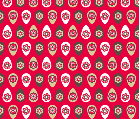 Retro eggs fabric by cjldesigns on Spoonflower - custom fabric