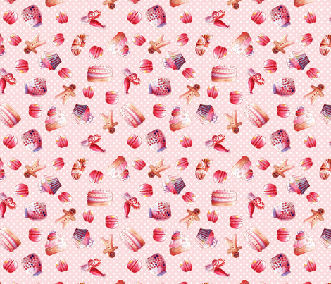 gourmandise M fabric by nadja_petremand on Spoonflower - custom fabric