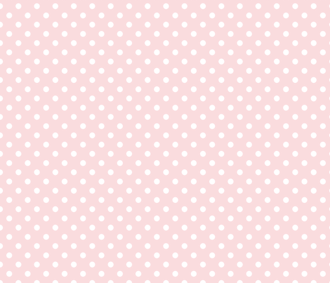 pois blanc fond rose pale S fabric by nadja_petremand on Spoonflower - custom fabric