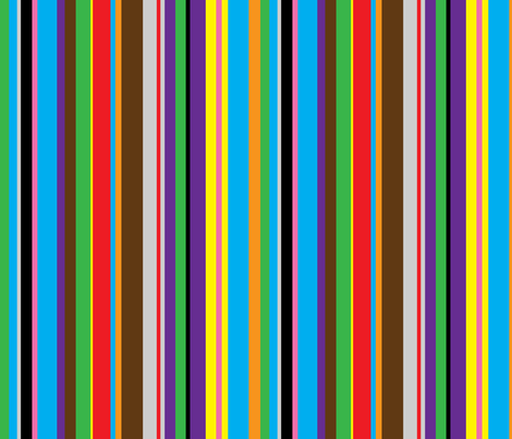 Colourful stripes (more blue) fabric by greennote on Spoonflower - custom fabric