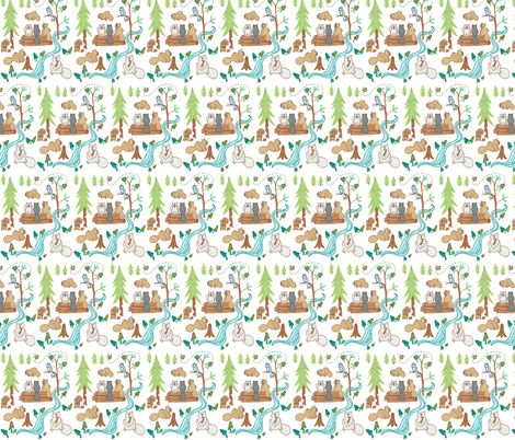 Lazy Beavers fabric by kbexquisites on Spoonflower - custom fabric