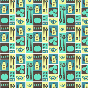 Retro Kitchenalia - blue