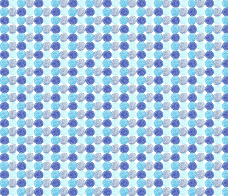 Meadow Dots in Blue fabric by kbexquisites on Spoonflower - custom fabric