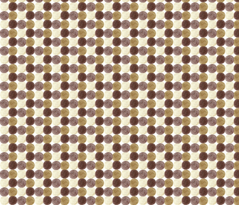 Meadow Dots in Brown fabric by kbexquisites on Spoonflower - custom fabric