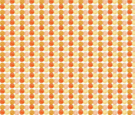 Meadow Dots in Orange fabric by kbexquisites on Spoonflower - custom fabric