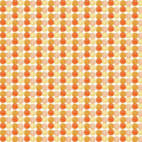 Meadow Dots in Orange