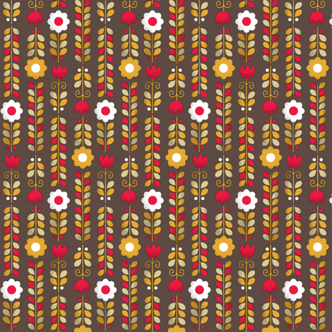Mum's Kitchen | flowers fabric by irrimiri on Spoonflower - custom fabric