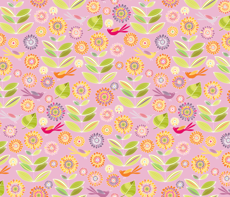 Purple Lemonade fabric by kayajoy on Spoonflower - custom fabric