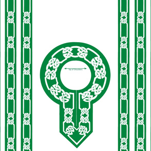 collar and trim green white