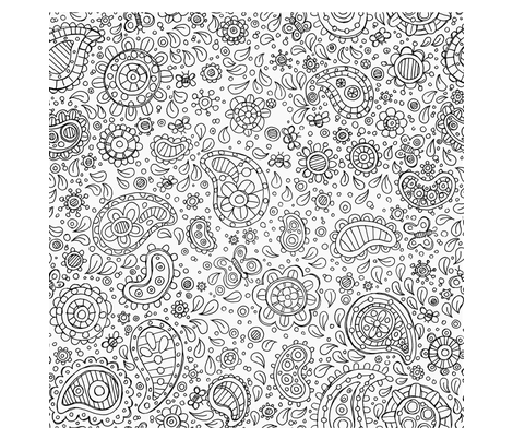 Big Paisley B and W fabric by karencraig on Spoonflower - custom fabric
