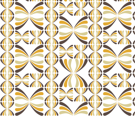 Retro Geometric - Brown fabric by sammyb on Spoonflower - custom fabric