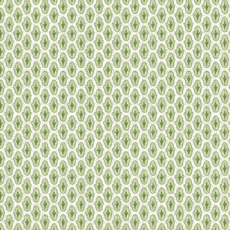 Backyard Diitsy fabric by littlerhodydesign on Spoonflower - custom fabric