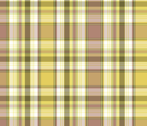 My Backyard Plaid fabric by littlerhodydesign on Spoonflower - custom fabric