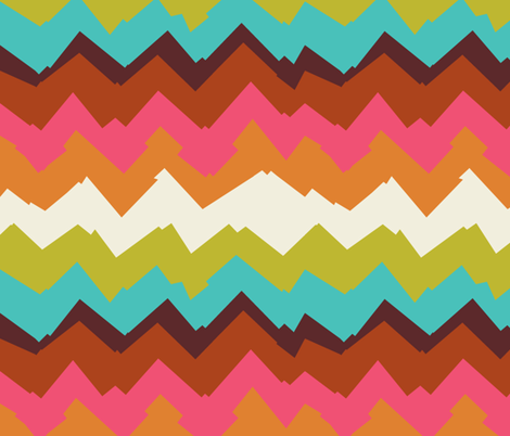 Peyote Chevron fabric by alicia_vance on Spoonflower - custom fabric