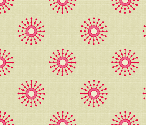 starburst_red_copy fabric by littlerhodydesign on Spoonflower - custom fabric