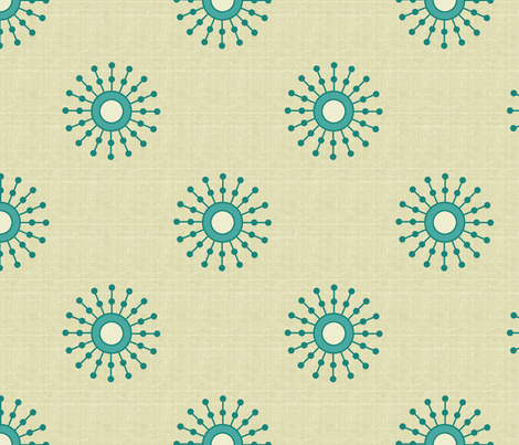 starburst_teal fabric by littlerhodydesign on Spoonflower - custom fabric