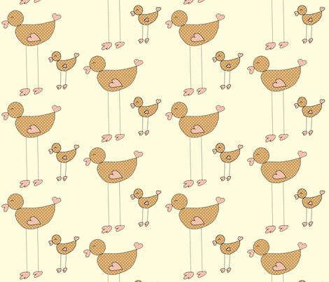 Mama and Me fabric by anikabee on Spoonflower - custom fabric