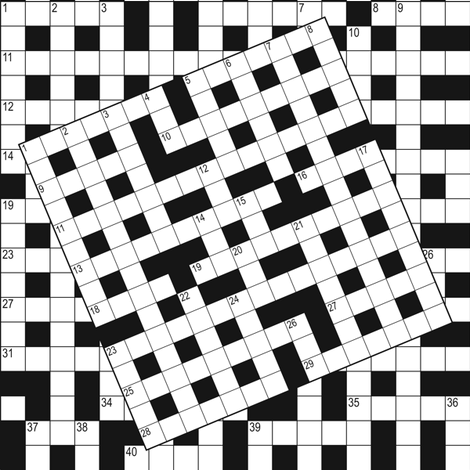 Cryptic Crossword 2 fabric by aussienisi on Spoonflower - custom fabric