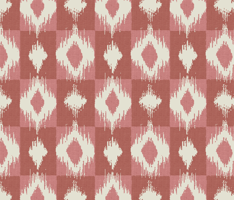 Ikat Blush fabric by littlerhodydesign on Spoonflower - custom fabric