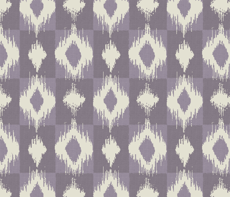 Ikat Ink fabric by littlerhodydesign on Spoonflower - custom fabric