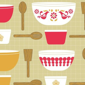 Pyrex and Wooden Spoons!