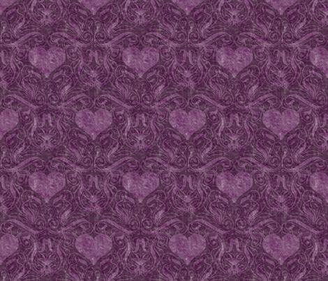 Purple Heart Damask fabric by mystikel on Spoonflower - custom fabric