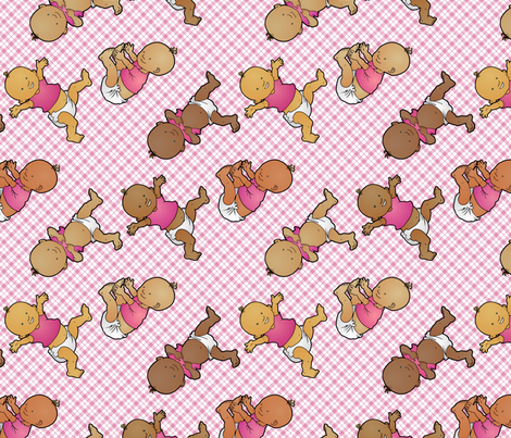 Doin' the Diaper Dance fabric by hannafate on Spoonflower - custom fabric