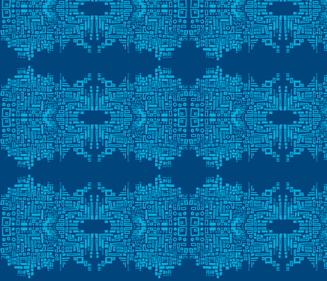 chain_of_shapes_2-blues fabric by kcs on Spoonflower - custom fabric