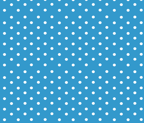 Blue Polkas fabric by stickelberry on Spoonflower - custom fabric