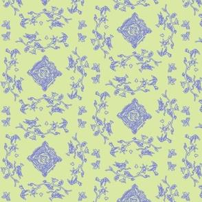 Doodle Toile Diamond Sage