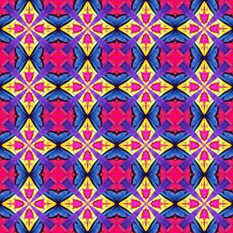Peter's Painted Petals 17 fabric by dovetail_designs on Spoonflower - custom fabric