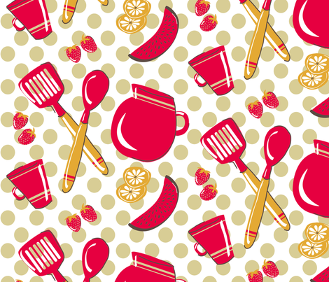 kitch fabric by sketcher on Spoonflower - custom fabric