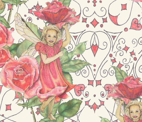 Fairy_roses fabric by adranre on Spoonflower - custom fabric