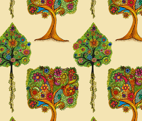 Tree of life fabric by dinorahdesign on Spoonflower - custom fabric