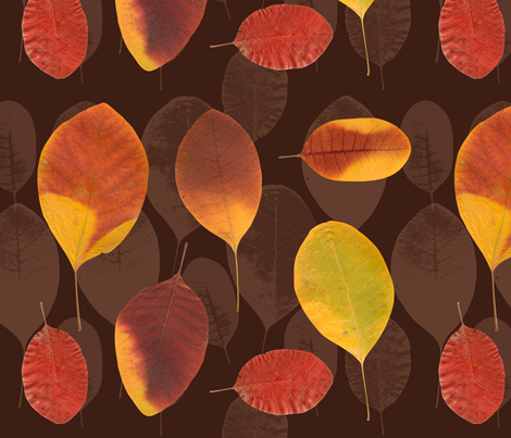 leaves fabric by katja_saburova on Spoonflower - custom fabric