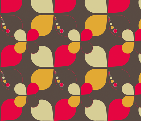 Retro_drop_flower fabric by lardida on Spoonflower - custom fabric